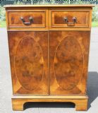 SOLD - Small Walnut Two Door Cabinet Cupboard